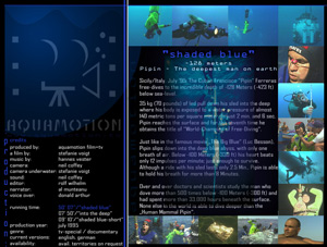 aquamotion - 'SHADED BLUE' - click for flyer and production images