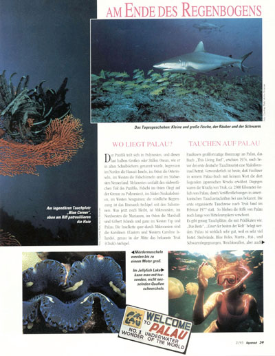 AQUANAUT - MAGAZINE TEARSHEET -  Rock Islands -  Palau, Micronesia, Pacific Ocean ~ id# aquawoman GB