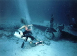 ZERO FIGHTER AT 80 feet/26Meters / trouble shooting - HP HOSE broke - Palau, Micronesia, Pacific Ocean ~ id# aquawoman GB005